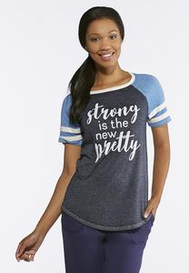 Strong Athletic Stripe Tee