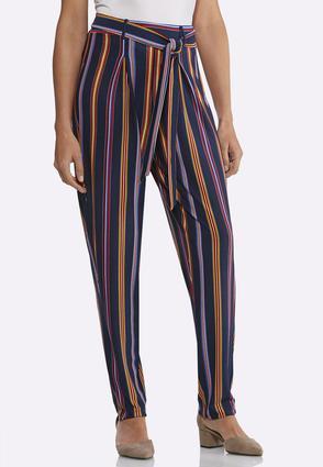 Stripe Tie Waist Pants | Tuggl