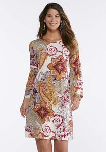Smocked Bell Sleeve Dress