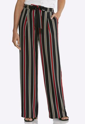 Stripe Tie Front Palazzo Pants | Tuggl