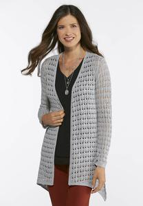 Plus Size Solid Duster Sweater