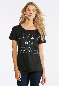 Plus Size Livin On A Prayer Tee