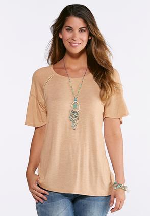 Plus Size Stud Embellished Raglan Top | Tuggl