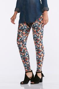 Navy Botanical Leggings