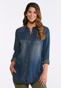 Dark Wash Chambray Shirt