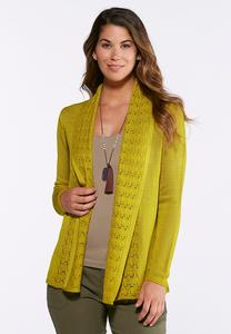 Mixed Stitch Cardigan Sweater