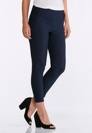 Navy Stretch Ankle Pants | Tuggl