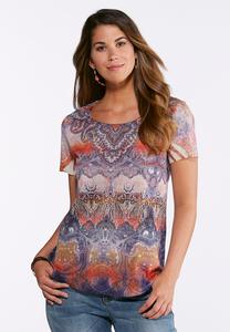 Plus Size Embellished Dream Paisley Top