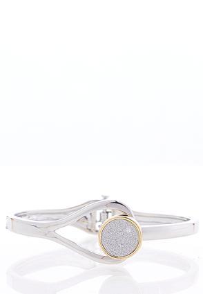 Two-Toned Glitter Cuff Bracelet | Tuggl