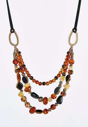 Triple Row Swag Necklace | Tuggl