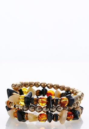 Coiled Neutral Bead Bracelet | Tuggl
