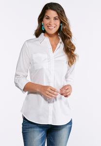 Classic White Button Down Shirt