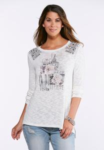 Plus Size Embellished City Top