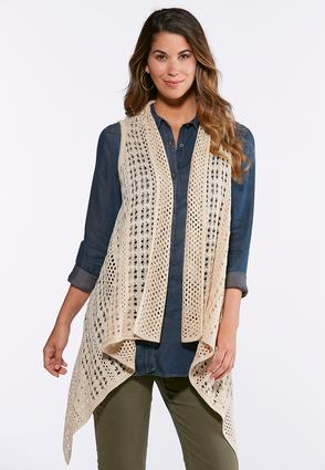 Plus Size Natural Open Stitch Sweater Vest at Cato in Brooklyn, NY   Tuggl