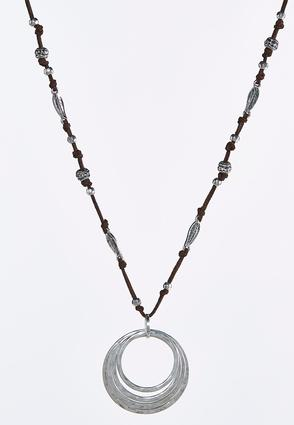 Layered Circle Cord Necklace | Tuggl