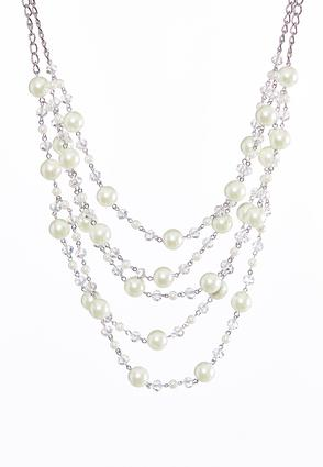 Chain Link Layered Pearl Necklace