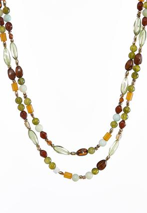 Green Layered Statement Necklace | Tuggl