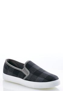 Plaid Slip-On Sneakers