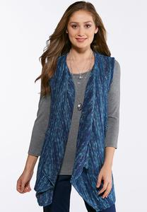 Marled Blue Sweater Vest