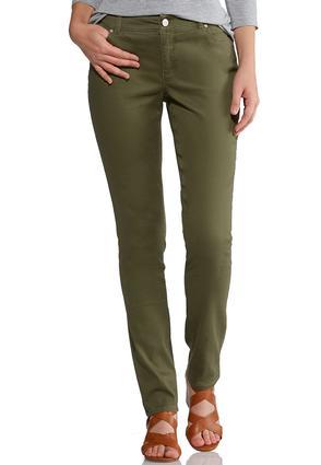 Shape Enhancing Olive Skinny Jeans   Tuggl