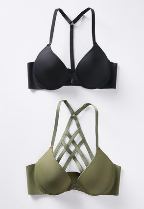 Front Closure Racerback Bra Set