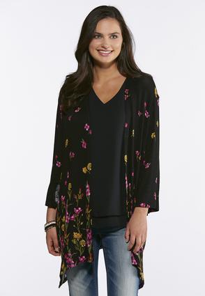 Floral Hacci Knit Cardigan | Tuggl
