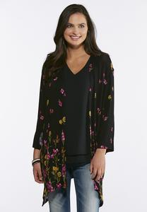 Floral Hacci Knit Cardigan