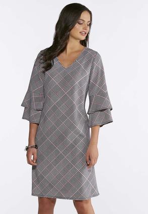 Plus Size Plaid Tiered Sleeve Dress Plus Sizes Cato Fashions