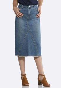 Frayed Vintage Denim Skirt