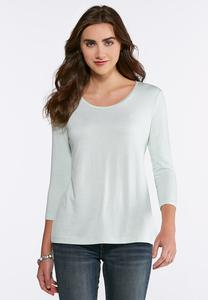Heathered Scoop Neck Tee