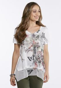 Embellished Butterfly Garden Top