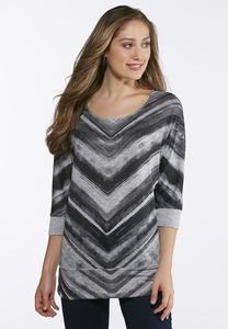 Chevron Hacci Knit Top