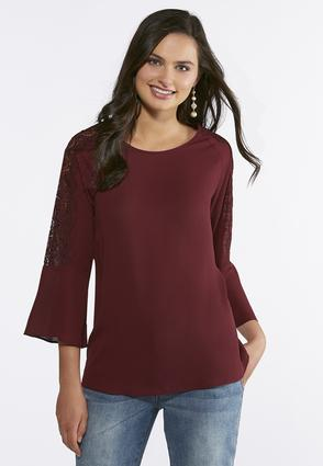 Lace Sleeve Poet Top | Tuggl