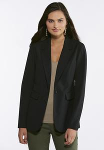Plus Size Single Button Front Blazer
