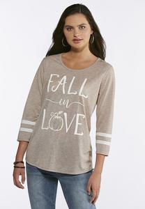 Plus Size Fall In Love Top