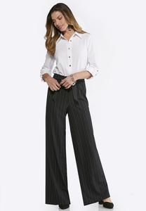 Black And White Tie Waist Jumpsuit