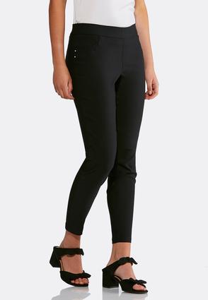 Embellished Bengaline Ankle Pants | Tuggl