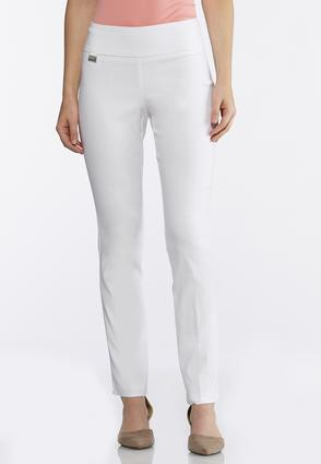 White Bengaline Ankle Pants