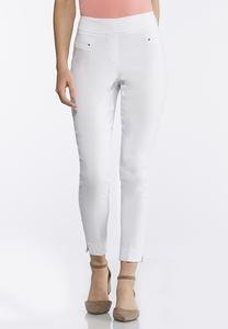 Stretch Pull-On Ankle Pants