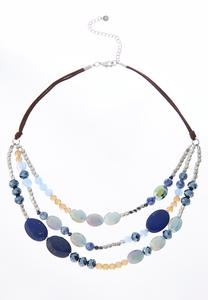 Beaded Swag Cord Necklace