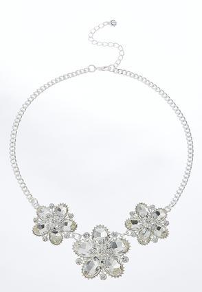 Textured Flower Bib Necklace | Tuggl