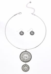 Tiered Medallion Necklace Set