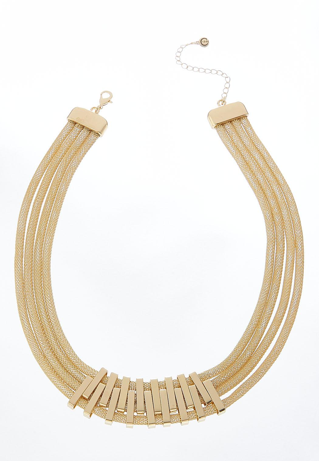 Gold Layered Mesh Necklace