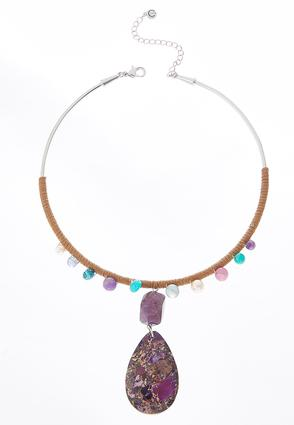 Faux Suede Wrapped Choker | Tuggl