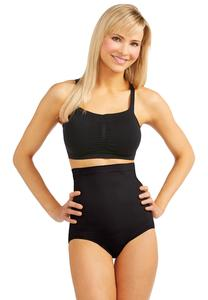 Black High Waist Seamless Panties-Plus