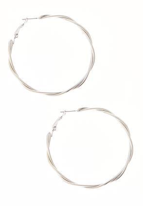 Twisted Metal Hoop Earrings | Tuggl