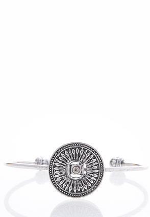 Etched Medallion Cuff Bracelet | Tuggl