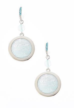 Iridescent Round Glitter Earrings | Tuggl