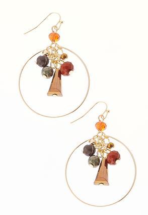Clustered Autumn Bead Earrings | Tuggl