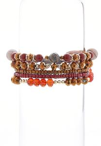 Autumn Mixed Bead Bracelet Set